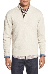 Singer Sargent Mock Neck Wool Sweater Oatmeal Heather