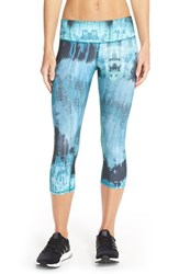 Alo Yoga Women's Alo 'Airbrushed' Capri Leggings Deep Teal Desert Sunset Print