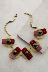 Orly Genger By Jaclyn Mayer Seneca Bib Necklace Red Motif