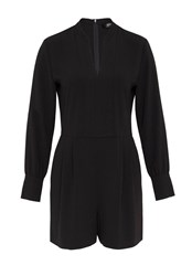 Hallhuber Playsuit With Long Sleeves Black