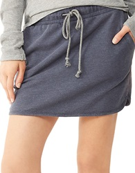 Alternative Apparel Light French Terry Dolphin Skirt Midnight Wash