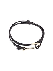Miansai Hook Wrap Bracelet Black