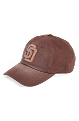 American Needle 'San Diego Padres Luther' Ball Cap Chocolate