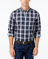 Tommy Hilfiger Men's Big And Tall Gordon Plaid Shirt Peacoat