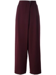 Mcq By Alexander Mcqueen Cross Front Trousers Pink Purple