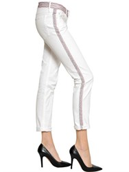 Etoile Isabel Marant Embroidered Cotton Denim Jeans