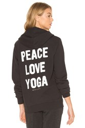 Spiritual Gangster Peace Love And Yoga Hoodie Black