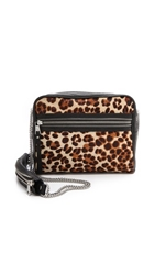 Ash Domino Haircalf Cross Body Bag Leopard
