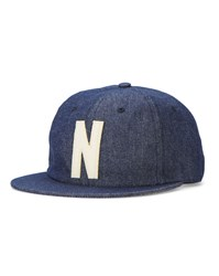 Norse Projects Navy 6 Panel Denim Cap Blue