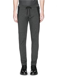 Dolce And Gabbana Side Trim Zip Cuff Jogging Pants Black