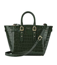 Aspinal Of London Croc Print Midi Marylebone Tote Unisex