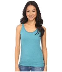 Woolrich Norrine Embroidered Trim Tank Turquoise Women's Sleeveless Blue