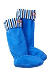 Hunter Original Tall Deck Striped Boot Sock Blue