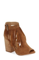 Chinese Laundry 'Boho' Peep Toe Bootie Brown