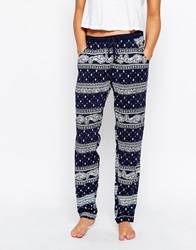 Esprit Destina Printed Lounge Leggings Richnavy