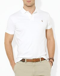 Ralph Lauren Soft Touch Slim Fit Polo White