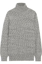 Theory Pristelle Cashmere Turtleneck Sweater Gray