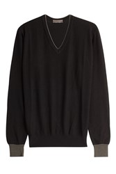 Etro Cotton Cashmere Pullover Black