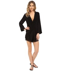 Lablanca Costa Brava Romper Cover Up Black Women's Jumpsuit And Rompers One Piece