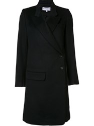 Ann Demeulemeester 'Cashrelief' Double Breasted Coat Black