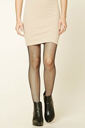 Forever 21 Fishnet Tights Black