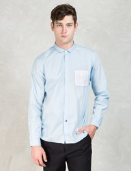 Blue 'Pucci' Short Round Collar Shirt
