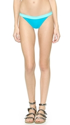 Marc By Marc Jacobs Solid Marc Color Block Bikini Bottoms Painted Teal Multi