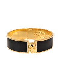 Alexander Mcqueen Skull Button Enamel Bangle