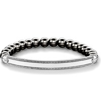 Thomas Sabo Love Bridge Haematite And Silver Bracelet