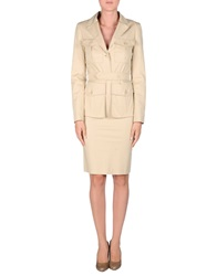 Frankie Morello Women's Suits Beige