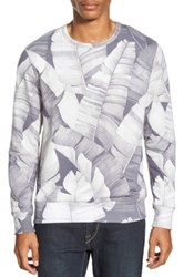 Sol Angeles 'Masa Leaf' Print Crewneck Sweatshirt Gray