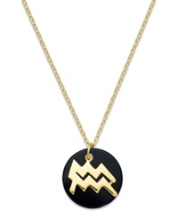 Studio Silver Aquarius Pendant Necklace In 18K Gold Over Sterling Silver