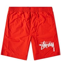 Stussy Stock Elastic Waist Short Red