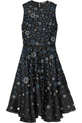 Holly Fulton Ana Maria Embellished Silk Organza Dress Black