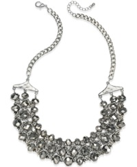 Style And Co. Silver Tone Beaded Chain Necklace