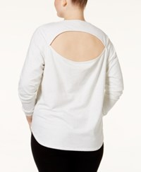Jessica Simpson The Workout Plus Size Long Sleeve Top Vivid Day