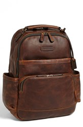 Men's Frye 'Logan' Leather Backpack Brown Dark Brown