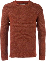 Folk 'Stripe' Jumper Yellow And Orange