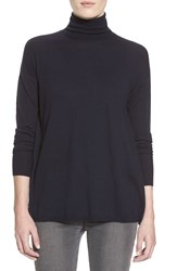 J Brand 'Clinton' Sheer Back Turtleneck Sweater Navy