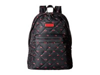 Marc By Marc Jacobs Crosby Quilt Nylon Printed Fruit Backpack Cherry Print Backpack Bags Red