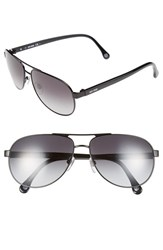 Men's Jack Spade 'Morton' 60Mm Aviator Sunglasses Black Grey Gradient