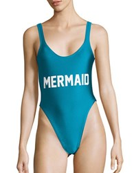 Private Party Mermaid One Piece Swimsuit Turquoise