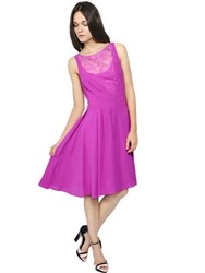 Nina Ricci Silk Crepe Chiffon And Lace Dress