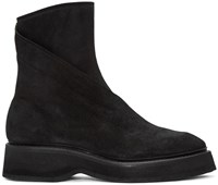 Julius Black Twisted Zip Up Boots