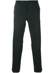 Dolce And Gabbana Straight Leg Trousers Black