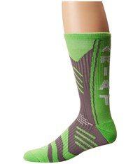 Ariat Performance Mid Calf Sock Lime Green Men's Crew Cut Socks Shoes