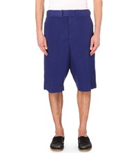 Dries Van Noten Papay Cotton Shorts Pur