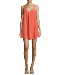 Joie Mitsou Sleeveless Silk Slip Dress Coral Rose