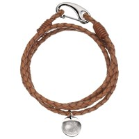 Between You And I Personalised Men's Leather Bracelet 1 Charm