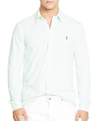 Polo Ralph Lauren Knit Oxford Regular Fit Button Down Shirt Cruise Lime White